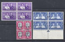 SOUTH WEST AFRICA, KGV1, 1947 ROYAL VISIT, SG 134-36, FINE USED BLOCKS 4