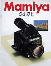 MAMIYA 645 E SYSTEM CATALOG/BROCHURE(ORIGINAL PRINT JAPAN/not copies)