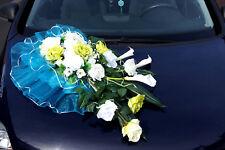 Autoschmuck Hochzeit Blumengesteck Autodeko Brautauto Dekoration Auto Deko LA34