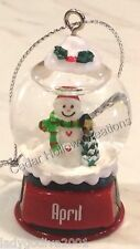 Personalized Snow Globe Ornament - April - FREE Shipping