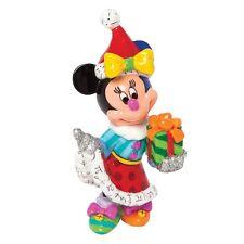 Figur Enesco Disney Minnie mouse Britto 4039145 mit Geschenk Weihnachtsmann