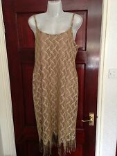 New Ladies Kaleidoscope Gold Dress Size 14