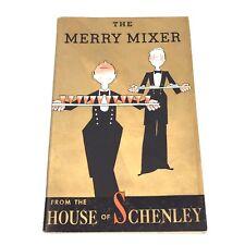 House of Schenley Merry Mixer John Held Cocktail Barware Book Vintage Vtg 1938