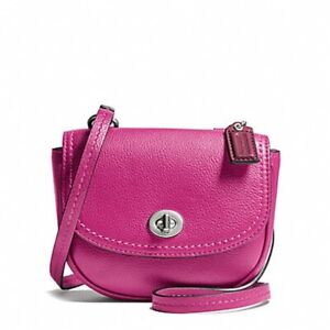 NWT - Coach Park Leather Mini Crossbody - Magenta - F49872