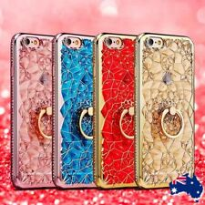 Luxury Bling Sparkle Diamond  Finger Ring Stand Case Cover For iPhone X 8 7 Plus