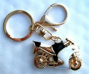 Golden Motorcycle Keyring Gift Boxed