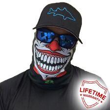 Biker Half Face Mask - Clown Design - Premium Quality
