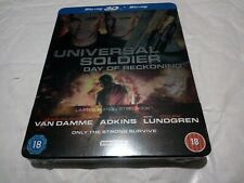 Universal Soldier Day Of Reckoning 3D Blue Ray Steel Book - New sealed