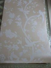 Oriental Garden linen wallpaper bird butterfly several available