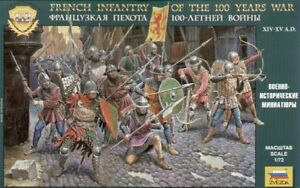 Zvezda 1/72 100 Years War French Infantry # 8053