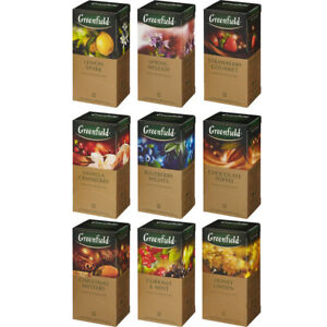 Black Tea Greenfield 25 Teabags Many Flavors Free Worldwide Shipping