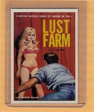 Lust Farm by JX Williams promo card book mark GGA pulp fiction sleaze