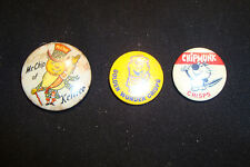 OLD VINTAGE RETRO CHIPMUNK GOLDEN WONDER MR CHIP OF KEILLER CRISPS BUTTON BADGE