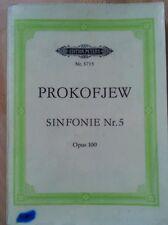 Prokofjew symphonie nr 5 taschenpartitur