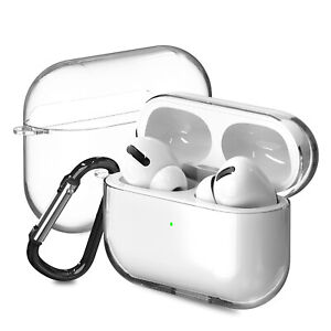 For Apple AirPods Pro Charging Case Clear TPU Protective Cover Skin + Keychain