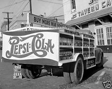 Photograph Vintage Pepsi Delivery Truck Montgomery Alabama Year 1943  8x10