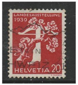 Switzerland - 1939, 20c National Exhibition (German) (Grill Gum) - Used-SG 396Ga