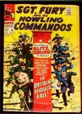 SGT. FURY 63 SERGEANT 1963 & HIS HOWLING COMMANDOS NICK AGENT OF SHIELD VG