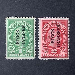 T9/115 US Stamp revenue BOB Scott #RD12-13 $1-2 2 Unused NH 1Nice 1Tear On Back