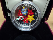 2013 Canada $20 Fine Silver Coin - Holiday Glass Candy Cane