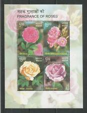 INDIA 2007 ROSES MINISHEET SG,MS2382 UM/M NH LOT 5971A