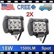 CREE 18W LED WORK LIGHT CAR SPOT LAMP JEEP TRUCK DRIVING BOAT 4INCH VS 14/20''