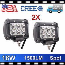 CREE 18W LED WORK LIGHT BAR CAR SPOT LAMP JEEP TRUCK DRIVING BOAT 4INCH 14/20''