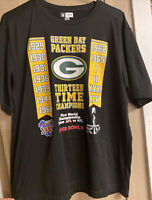 NFL Team Apparel AFL vs NFL Green Bay Packers Shirt Mens Large