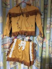 Vintage Costume-Native American Cowgirl Girls-Walls of Texas