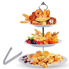 3 Tier Serving Tray Stand – Round Cupcake Dessert Party Platter with BONUS Servi