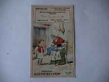 CHROMO PUBLICITAIRE CHOCOLAT GUERIN-BOUTRON N°185 GRAPHOLOGIE