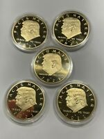 US Seller ** Qty five- 5 FACTS MATTER !! Donald Trump Golden Joe Biden Slam Coin