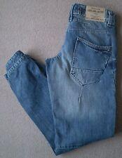Women's River Island Slouch Jeans Size 6R (32R) W24 L32 Blue Boyfriend Tapered