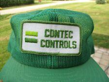 Vintage Contec Controls Patch Snap Back Mesh Hat Louisville Mfg Co.