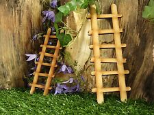 Fairy Door Accessories: 2 Wooden Fairy Door Ladders for Fairy Gardens, Skirtings