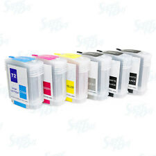 Refillable Ink Cartridges (62ml) for HP 72 Designjet T610 T620 T770 T790 T1100