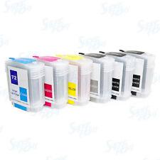 Refillable Ink Cartridges (62ml) for HP 72 Designjet T610 T620 T770 T790 T1100