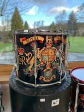 ROYAL MARINES GENUINE MARCHING BAND DOUBLE SNARE DRUM