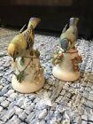 Pair+Of+Japanese+Made+Bird+Bell+Ornaments+Goldcrest+Bluetit+Fine+Porcelain+1980s