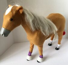 """My Life Brown Poseable Horse Fits 18"""" Doll  2012 18"""" High White Mane"""
