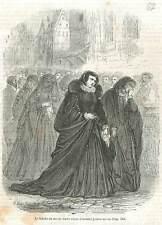 Famille du duc de Guise Justice au roi Henri III à Paris GRAVURE PRINT 1851