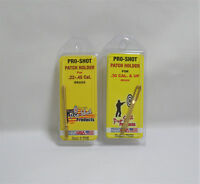 Gun Cleaning Pro Shot 2 Pack Brass Patch Holder Solid Slotted Rifle 22 45 30