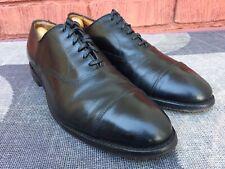 Allen Edmonds Park Avenue Mens Black Leather Cap Toe Shoes Sz 8.