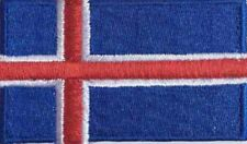 Iceland Flag Small Iron On / Sew On Patch Badge 6 x 3.5cm Icelandic Island