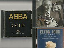 New ListingLot of 3 Pop Rock + Disco Cds Abba / Tony Bennet & k.d.lang / Elton John