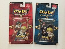 BANDAI ~ Zatchbell The Card Battle ~ 2 Booster Packs ~ Blue & Red ~ 2005 in Pkg