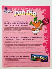 Vintage 1997 Willy Wonka FUN DIP Candy Advertising Page promotion container