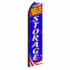 Self Storage Advertising Sign Swooper Feather Flutter Banner Flag Only