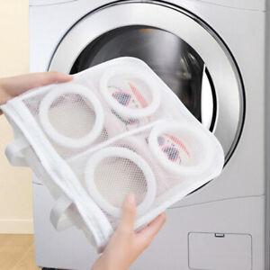 1X laundry bag shoes washing drying mesh net trainers protective storage  TkJ Ia