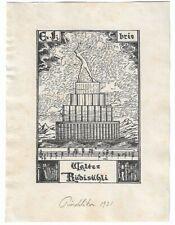 ANONYM: Exlibris für Walter Rüdisühli, 1921